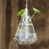 Wholesale Unique Lovely Clear Water Drop Glass Flower Vase Terrarium Hydroponics Container Hanging Wedding Party