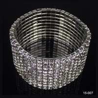 Wholesale 2016 In Stock Row Crystal Jewelry Bracelets Wedding Bridal Tennis High Quality