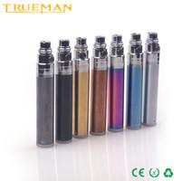batteries coat - TRUEMAN vacuum coating rechargeable battery variable voltage ego battey metal part detachable TF1 e cigarette battery mah