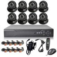 Wholesale professional cctv camera system ch dvr tvl cmos dome camera cctv camera system dvr kit
