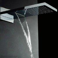 Cheap Stainless Steel Hydropowered Rainfall Shower Heads,Rain Shower,Overhead Showering 072626