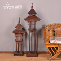 asia imports - Thailand imported wood wooden garden lights garden lights Wall lights wall lamp table lamp decorated Southeast Asia