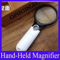 Wholesale Portable magnifying glass magnifying lens with LED