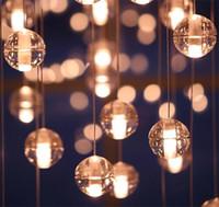 art deco shower - 2016 top LED Crystal Glass Ball Pendant Lamp Meteor Rain Ceiling Light Meteoric Shower Stair Bar Droplight Chandelier Lighting AC110 V