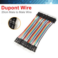 Wholesale 40PCS Dupont wire jumper cables cm MM male to male P P For Arduino connectors multi strand wire cable dupont