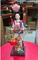 oriental statues - Oriental Broider Doll China Old style figurine China doll statue