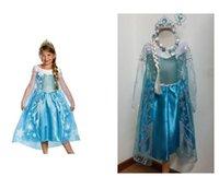 Cheap Girl elsa dress Best 100-140 Thanksgiving Day cosplay dress