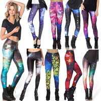 spandex leggings - Retail Fashion Women s Black milk mixed style skull Adventure Time galaxy prints elastic bodybuilding sexy Girl Leggings Pants