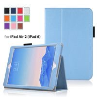 ipad accessories - For Apple Ipad AIR2 IPad6 inch Tablet Case Soft Edge TPU Tablet Accessories Hot Sales multicolor Stand Cheap Best Leather
