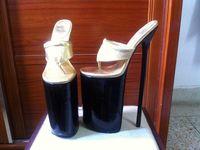 advanced party - 2015 advanced leather cm heel Extreme high heel inch heel platform handmade sex sandals thin heel lady high heel flip flop
