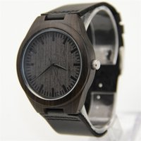 alloy marketing - Hot Marketing Mens Fashion Leather Bamboo Wooden Watches Analog Quartz Wrist Watch gift Aug25