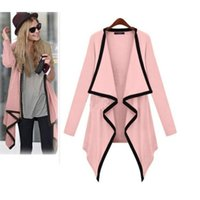Wholesale 2014 Autumn Women Fashion Knitted Thin Casual Irregular Collar Long Sleeve Sweater Cardigan Jacket Color Size