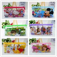 Wholesale 2016 Frozen Cartoon Stationery Set Students Office School Supplies Children Learning Pencil Cases Bags Ruler Notebook Sharpener Eraser Gift