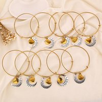 Wholesale New Gold I Love You To The Moon And Back Alex And Ani Bangles Bracelets For Women Jewelry Christmas Gift Top Sale