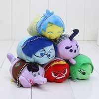 backpack accessories for kids - Inside out Plush Doll Toy Mobile Chain Keychains Backpack Bag Accessories Chain Ring for Kids gift