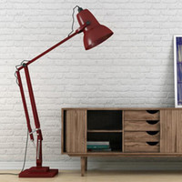 Wholesale Giant Anglepoise Floor Lamp Modern Fashion Classical Individuality White Black Orange Red Blue Iron Floor Lamp Living Room Bedroom Light