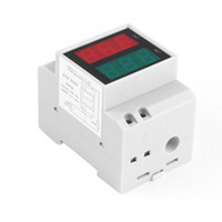 Wholesale 1pc Digital Din Rail AC Voltage Current LED Dual Display Panel Voltage Amp Meter Newest Hot Search