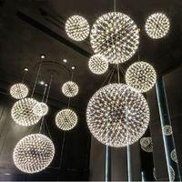 Wholesale Hot LED Spain Moooi Raimond Pendant Lights Moooi Chandelier Lights Spark Globe Pendant Lamp Stainless Steel Spark Chandelier