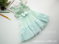children party dresses - Summer Dresses for girls pure color kids princess dresses sleeveless children vest dress bowknot child party dress ab1243