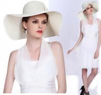 Cheap Wide Brim Hat lady sun hat Best 8 colors Tie-dyeing Lafite Straw Hats