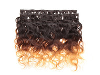 24 inch clip in human hair extensions - 300g B Brazilian Body Wave Clip In Hair Remy Human Hair Extensions Unprocessed Human Hair Wefts Hair Weave H6134A