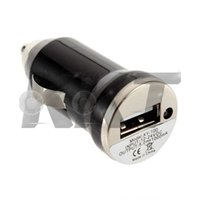 Wholesale New arrival High Quality Black Mini USB Car Charger Adapter for Mobile Cell Phone mp3 MP4 New