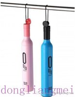 Wholesale 70pc Newest umbrella Wine Bottles Folding umbrella Rain luxury modern design wine umbrella J47
