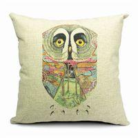 beds india - India Owl Print Pillows Cover Waist Pillow Cases Bedding Home Hotel Cotton Pillowcase cm