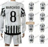 Wholesale customized new season sport marchisio long soccer jerseys set pirl0 cheap uniforms wear pogba top football jersey wear kits