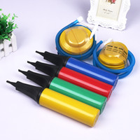 balloons inflators - Balloon Pump air Inflator Foot Pumps Hand Held Pump Christmas Party Wedding Supplies Plastic Inflators Kids Toys