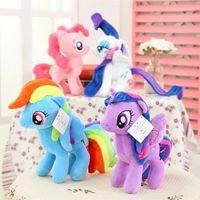 Wholesale 2015 hot cm My Little Pony Plush Dolls Cartoon Stuffed Toys Plush Animals children s gift free ship