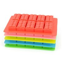 candy molds - creative silicone ice trays ice maker Lego type Muffin Sweet Candy Jelly fondant Cake chocolate Mold Ice Moulds Silicone Candy Molds