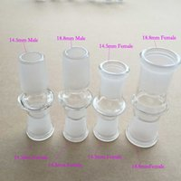 Wholesale Glass Bong Adapter mm to mm male and female to mm male and female Glass attachment