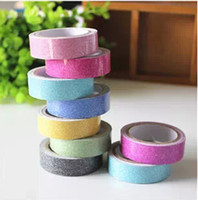 Wholesale Glitter Washi Sticky Paper Masking Adhesive Tape Label Craft Decorative DIY