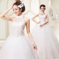 wedding grown dress - Cheap Wedding Dresses Plus Size Latest Chiffon Designer Wedding Dress Princess Sweet Bridal Wedding Grown HS029