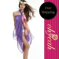 Wholesale Flower Printed Pareo Beach Sarongs With Ohyeah Brand Women Sarong Dress