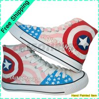 women footwear - American Hero Weapons Style High Top Lace Up Footwear Breathable Flat Shoe Hand Painted Canvas Women Shoes Womens Brand Sneakers