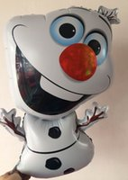 Wholesale christmas best gife Fro zen Olaf Party Foil Helium Balloon Birthday Party Wedding Decoration Supplies Kids Gift Toy froz en Hallowmas free