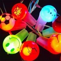 Wholesale 8 cm Plastic LED luminous whistle flash expression bar whistle children christmas toy light products