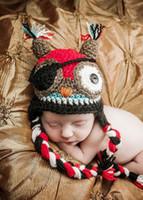 Girl Winter Crochet Hats Free Shipping Crochet Pattern Children Cartoon Pirate OWL Eye Patch Hat Baby Boys Girls Newborn Infant Kids Children Beanie Photography prop