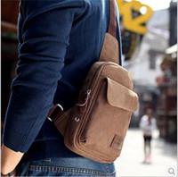 Wholesale Sport Hiking Sling Canvas Shoulder Men Crossbody Bag Unbalance Back Pack Travel Messenger Bag Handbag