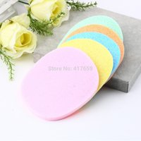 Wholesale Pack Natural Cellulose and PVA Sponge Facial Sponge Compressed Puff Soft Face Wash Cleansing Puff