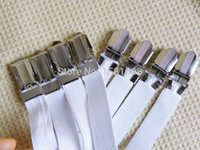 Wholesale 4pcs Sheet Grippers Straps Fasteners Hold Grips Elastic Chrome Clips Gripper
