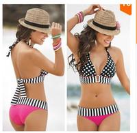 bandeau bikini sale - 2016 hot sale Sexy Women Swimwear Neoprene Bikini Set Bandeau Push Up Padded Bra swimsuits for women