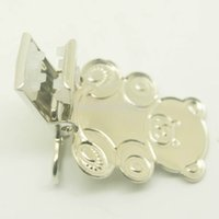 Wholesale 200pcs Nickel plating teddy bear shaped suspender clip clips suspender suspender clips suppliers manufacturers