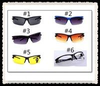 Wholesale fashion Night vision goggles sunglasses Cycling Eyewear UV400 polarized bike sport Windproof glasses eyeglasses for men women