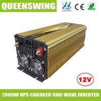 Wholesale Hot sale w Pure Sine Wave Power Inverter with UPS a charger for car home solar system QW P2000UPS