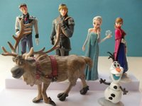 Wholesale FROZEN Resin PVC CM Figurine Doll Toy Anna Elsa Hans Kristoff Sven Olaf set
