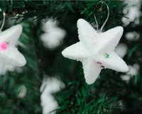 christmas items - Cute Christmas Decoration Supplies White Star Indoor Outdoor Hanging Decorations Items Stars Christmas Tree Ornament