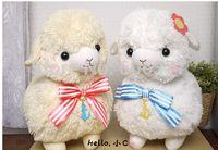 alpaca cap - 50x33cm Japanese Arpakasso Amuse Genuine The Navy Alpaca Doll Stuffed Plush Toy For Girl